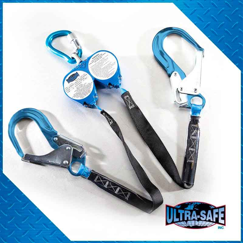 Web Retractable 100% Tie-Off Y-Lanyard with Swivel Top with ...